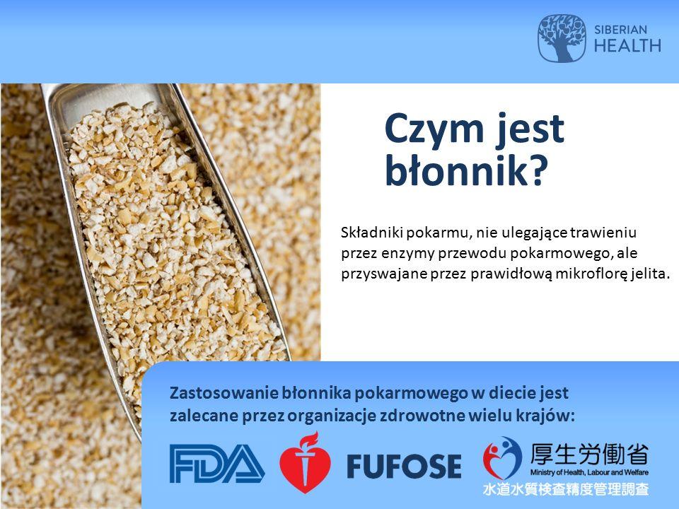 Czym jest błonnik? Składniki pokarmu, nie ulegające trawieniu przez enzymy przewodu pokarmowego, ale przyswajane przez prawidłową mikroflorę jelita. Z