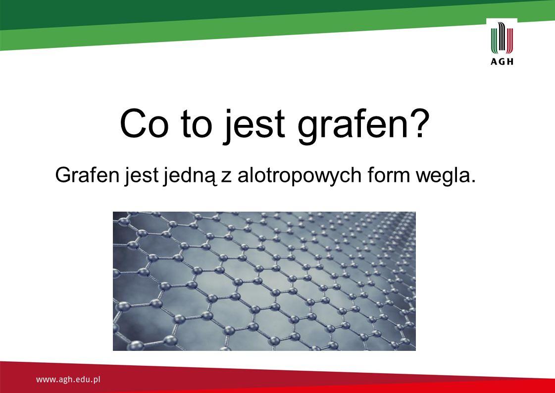 Co to jest grafen? Grafen jest jedną z alotropowych form wegla.