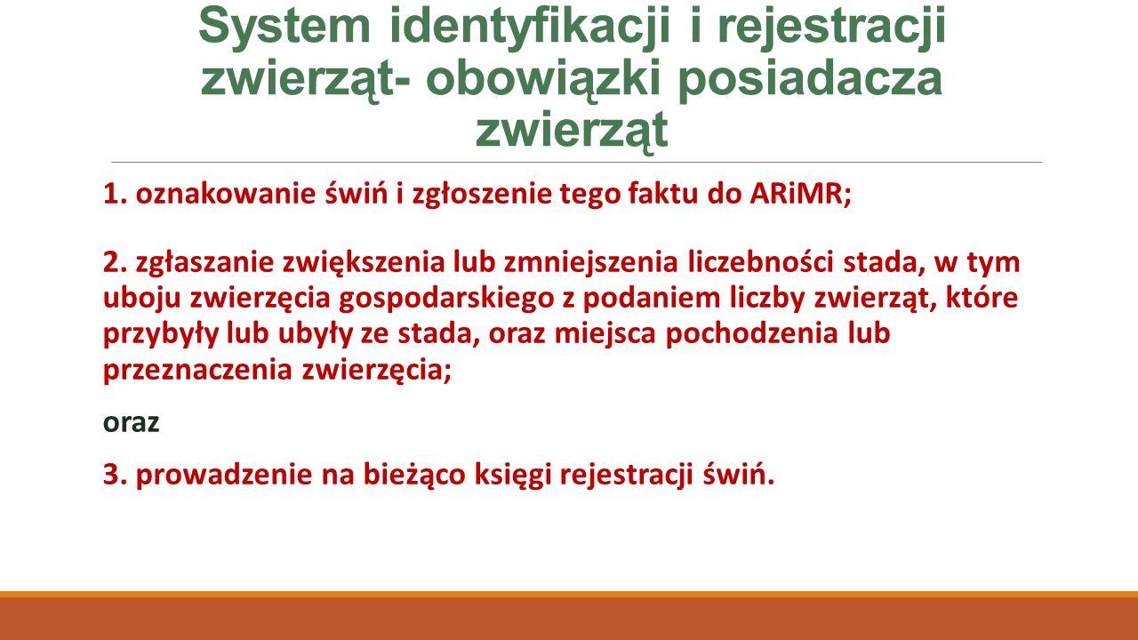System identyfikacji i rejestracji zwierząt- obowiązki posiadacza zwierząt 1.
