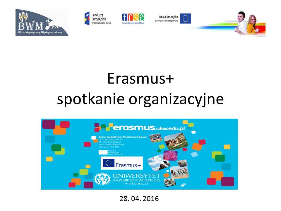 Erasmus+ spotkanie organizacyjne 28. 04. 2016
