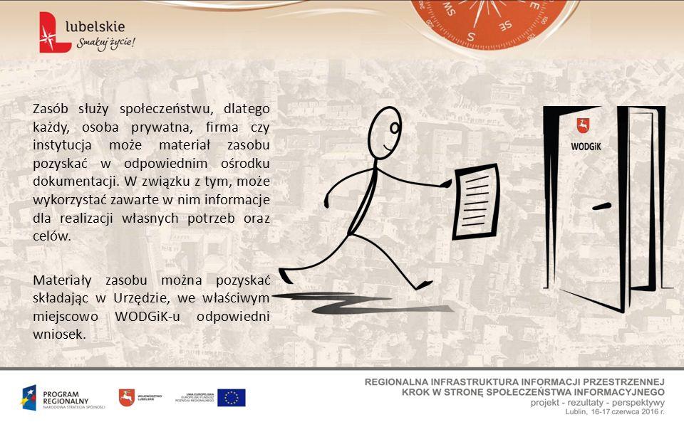 Zasób służy społeczeństwu, dlatego każdy, osoba prywatna, firma czy instytucja może materiał zasobu pozyskać w odpowiednim ośrodku dokumentacji.