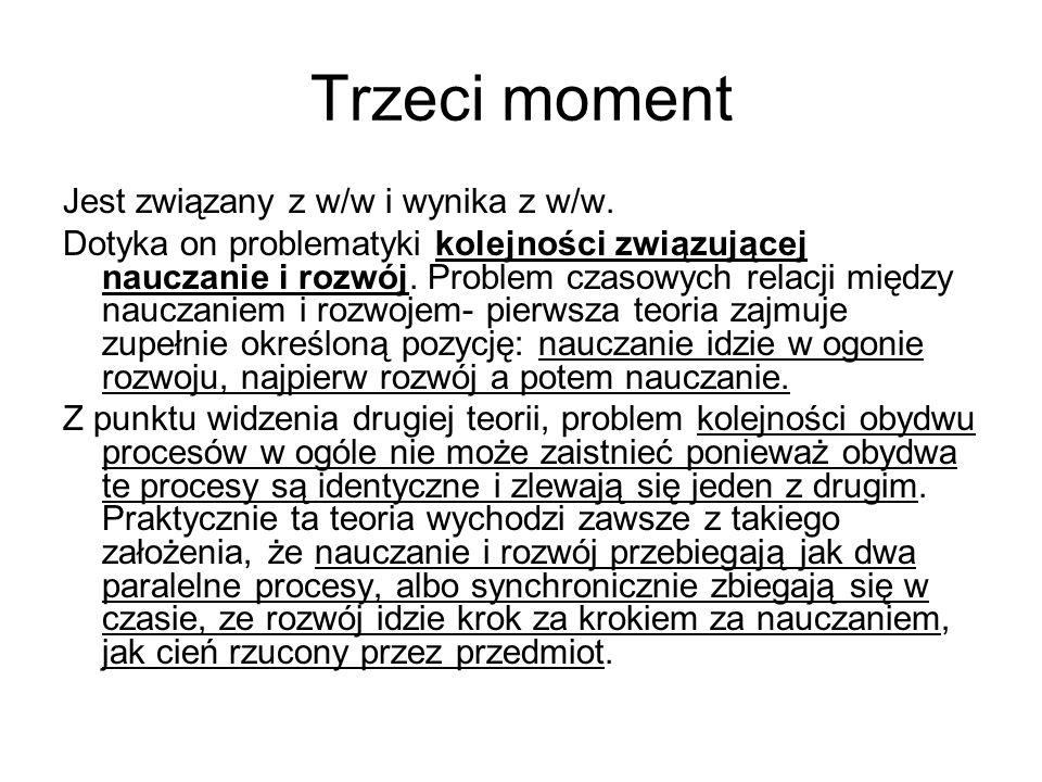 Trzeci moment Jest związany z w/w i wynika z w/w.