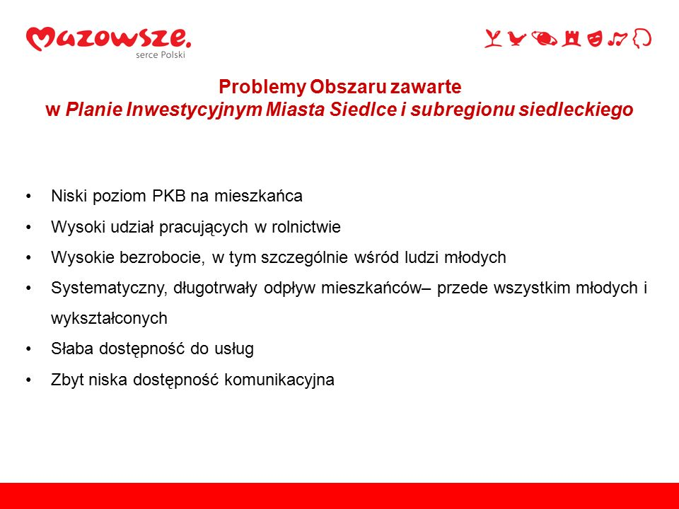 Usprawnienie komunikacji w subregionie siedleckim oraz zwiększenie mobilności jego mieszkańców Cel główny Planu Inwestycyjnego:
