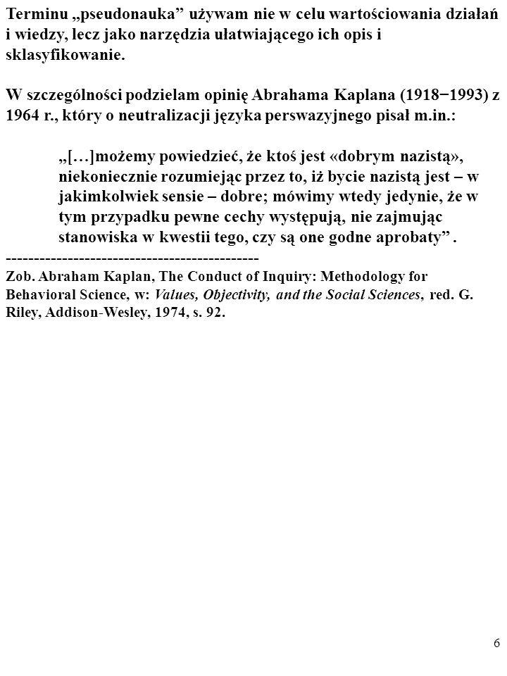 16 PO PIERWSZE, u Lakatosa w skład NAUKOWYCH PRO- GRAMÓW BADAWCZYCH wchodzi zestaw podstawowych założeń twórców programu, czyli tzw.
