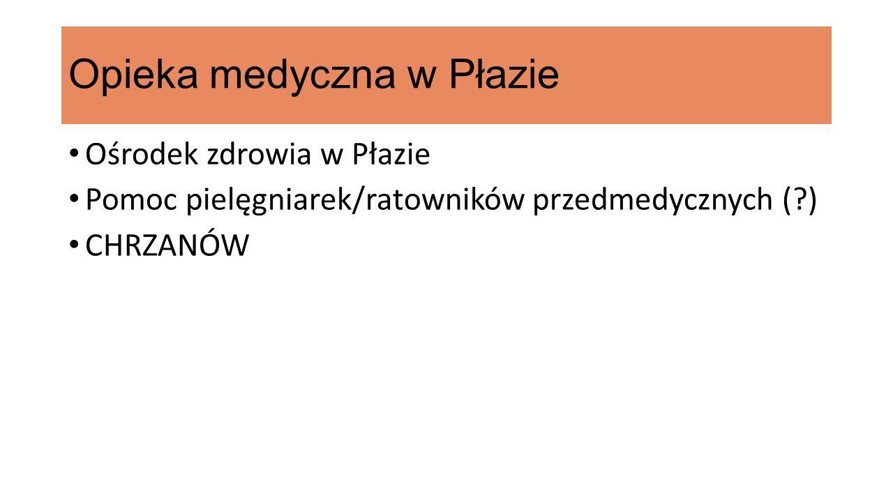 Opieka medyczna w Płazie Ośrodek zdrowia w Płazie Pomoc pielęgniarek/ratowników przedmedycznych ( ) CHRZANÓW
