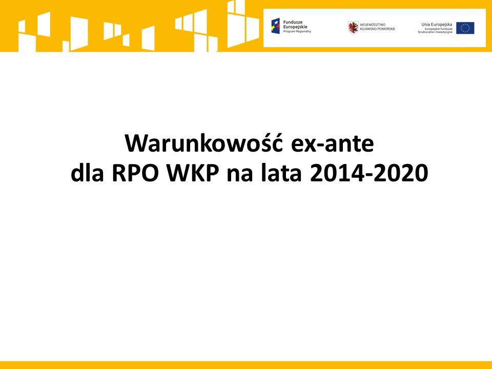 Warunkowość ex-ante dla RPO WKP na lata 2014-2020