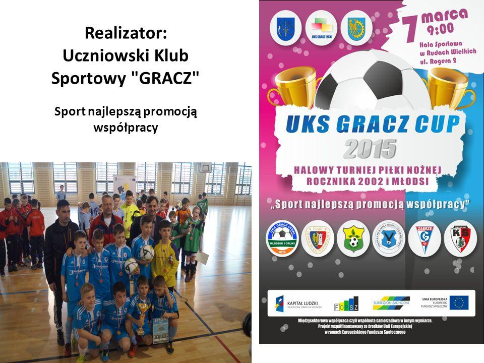 Realizator: Uczniowski Klub Sportowy GRACZ Sport najlepszą promocją współpracy