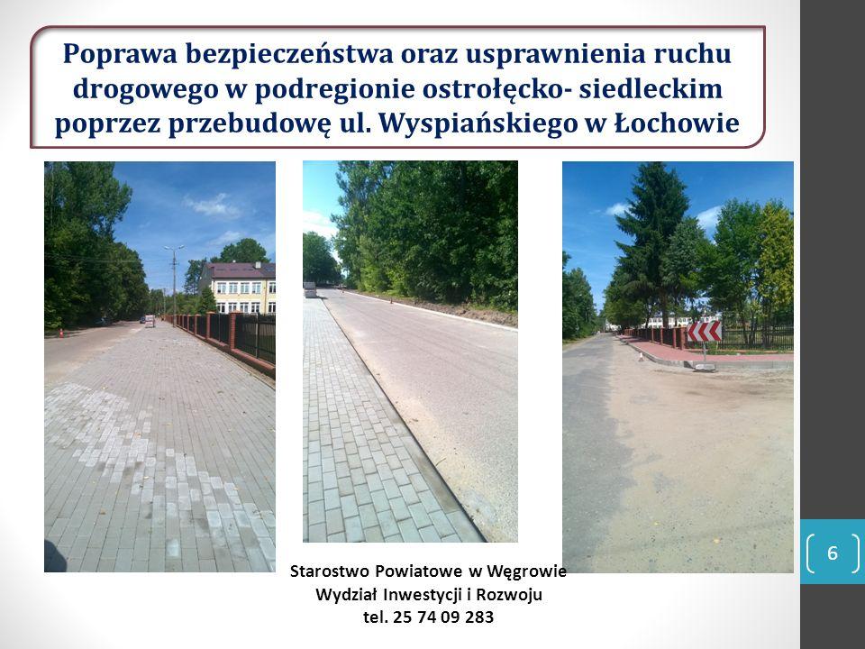 Zakres prac budowlano-montażowych dla ul.