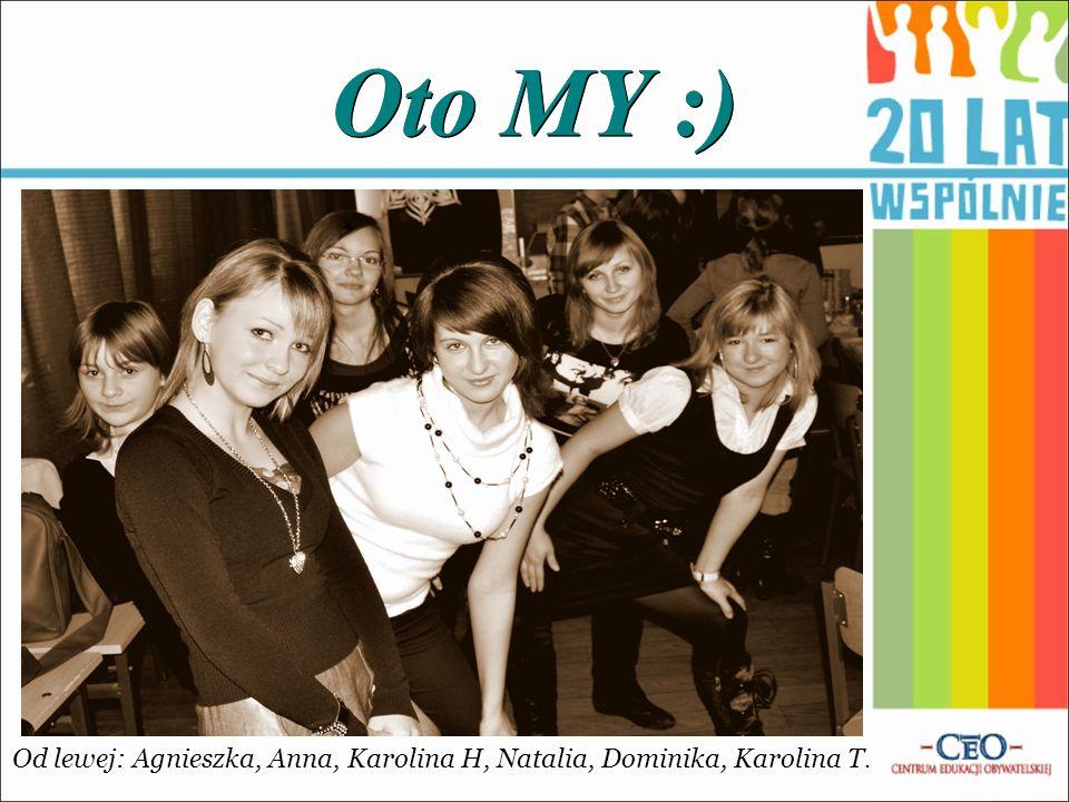 Oto MY :) Od lewej: Agnieszka, Anna, Karolina H, Natalia, Dominika, Karolina T.