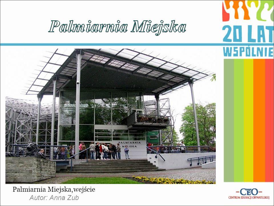 Palmiarnia Miejska,wejście Autor: Anna Zub
