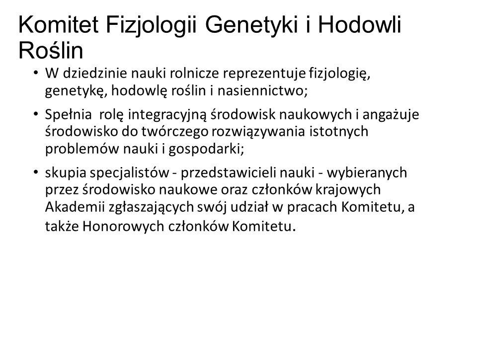 Powołanie Komitet Hodowli i Uprawy Roślin - działa od 1957 roku, a powołany został uchwałą Prezydium PAN w 1959 r.