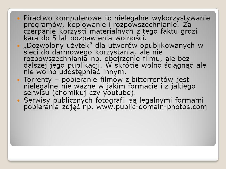 Piractwo komputerowe to nielegalne wykorzystywanie programów, kopiowanie i rozpowszechnianie.