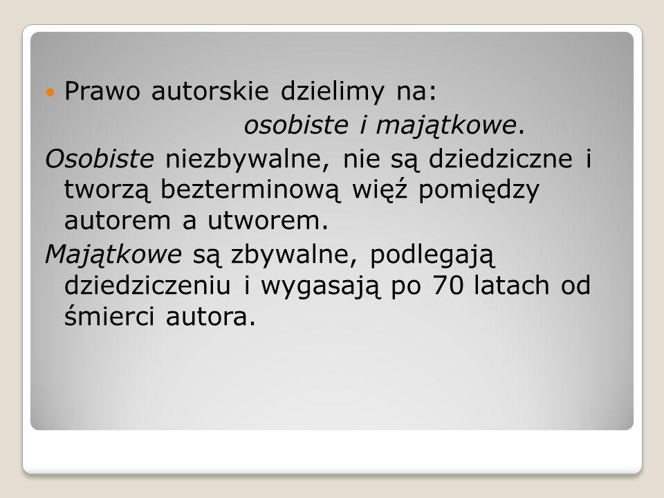 Trzy typy utworów w polskim prawie autorskim.Pierwotne.