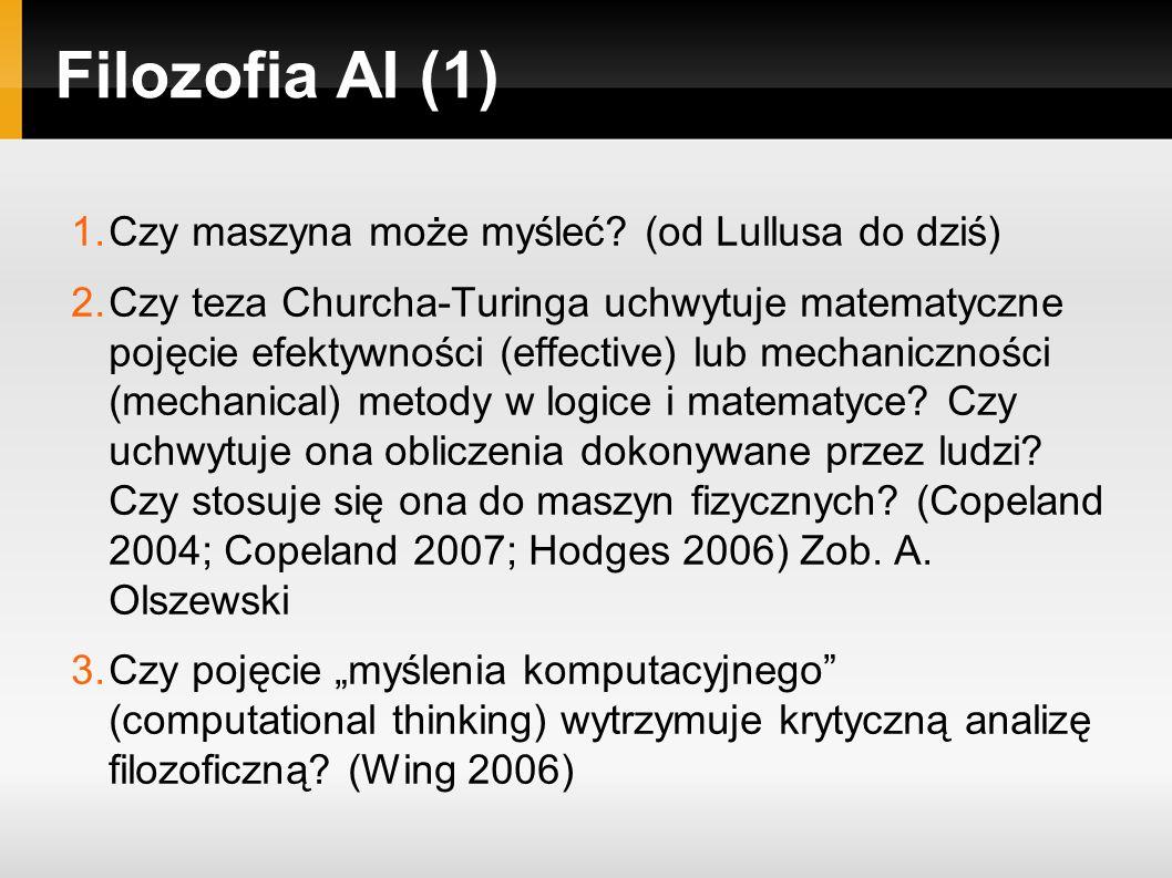 Filozofia AI (1) 1.Czy maszyna może myśleć.