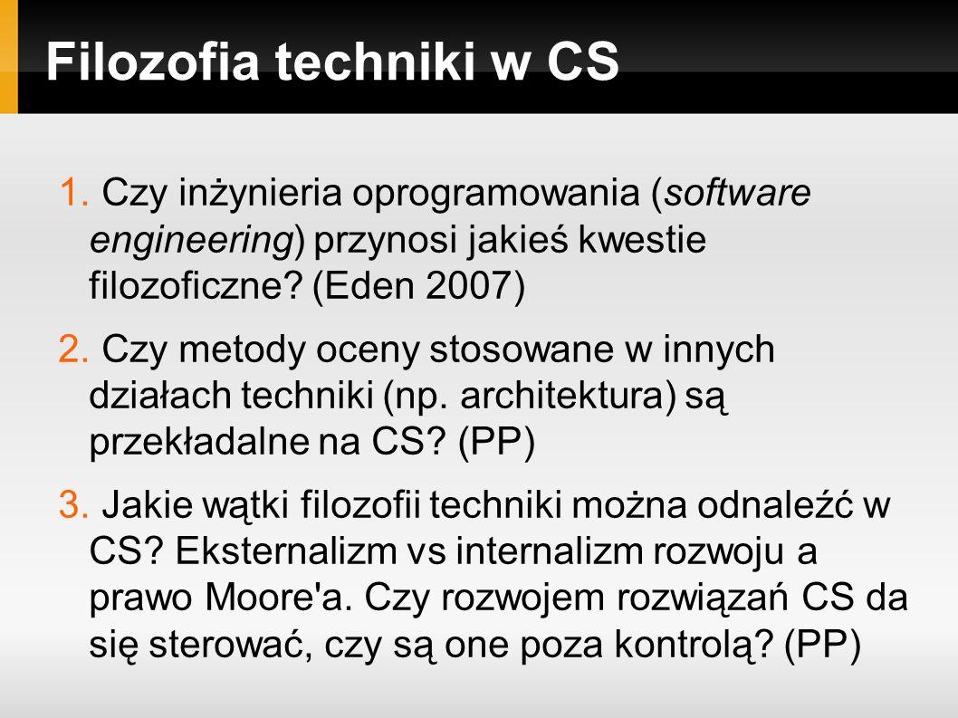 Filozofia techniki w CS 1.
