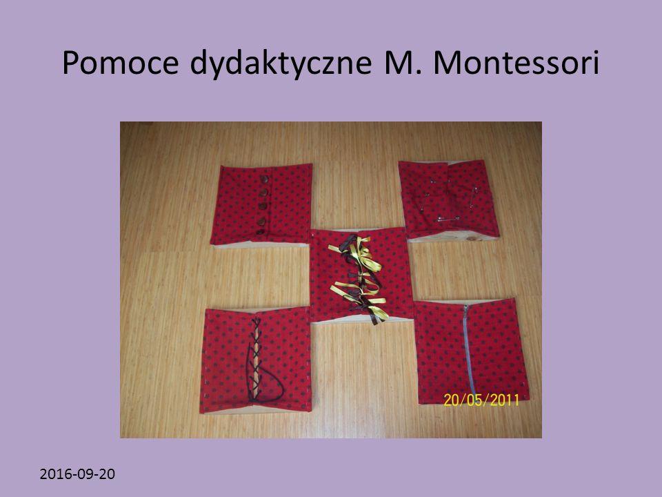 2016-09-20 Pomoce dydaktyczne M. Montessori