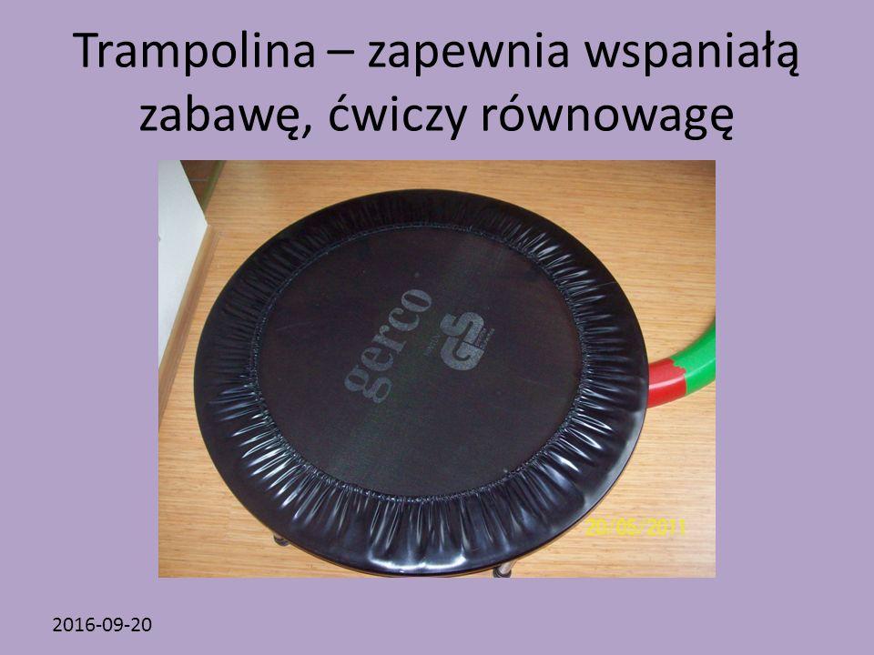 2016-09-20 Trampolina – zapewnia wspaniałą zabawę, ćwiczy równowagę