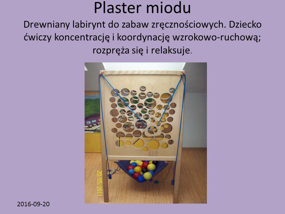2016-09-20 Plaster miodu Drewniany labirynt do zabaw zręcznościowych.