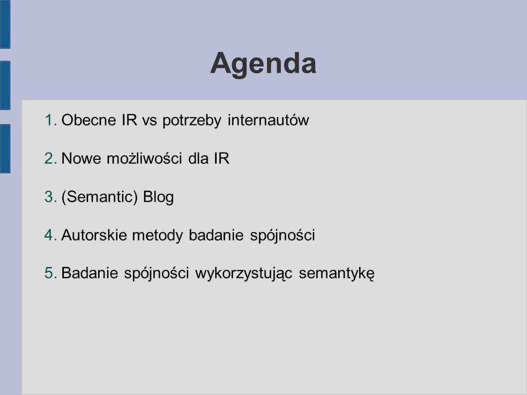 Agenda 1. Obecne IR vs potrzeby internautów 2. Nowe możliwości dla IR 3.