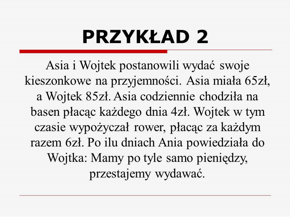 Asia i Wojtek postanowili wydać swoje kieszonkowe na przyjemności.
