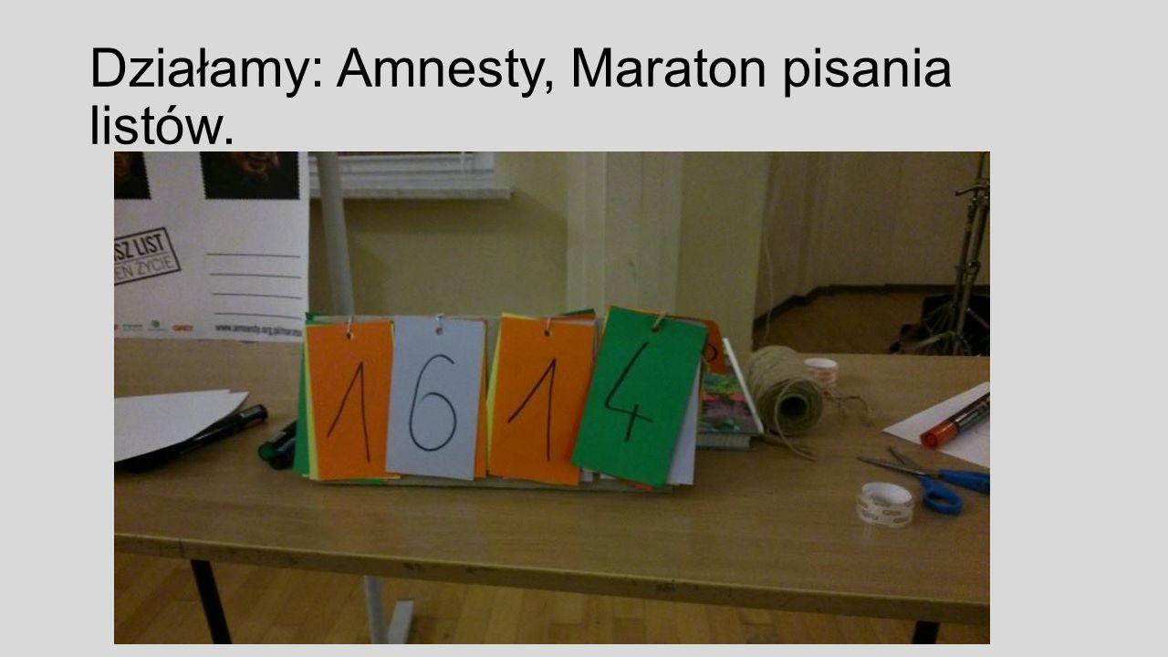 Działamy: Amnesty, Maraton pisania listów.