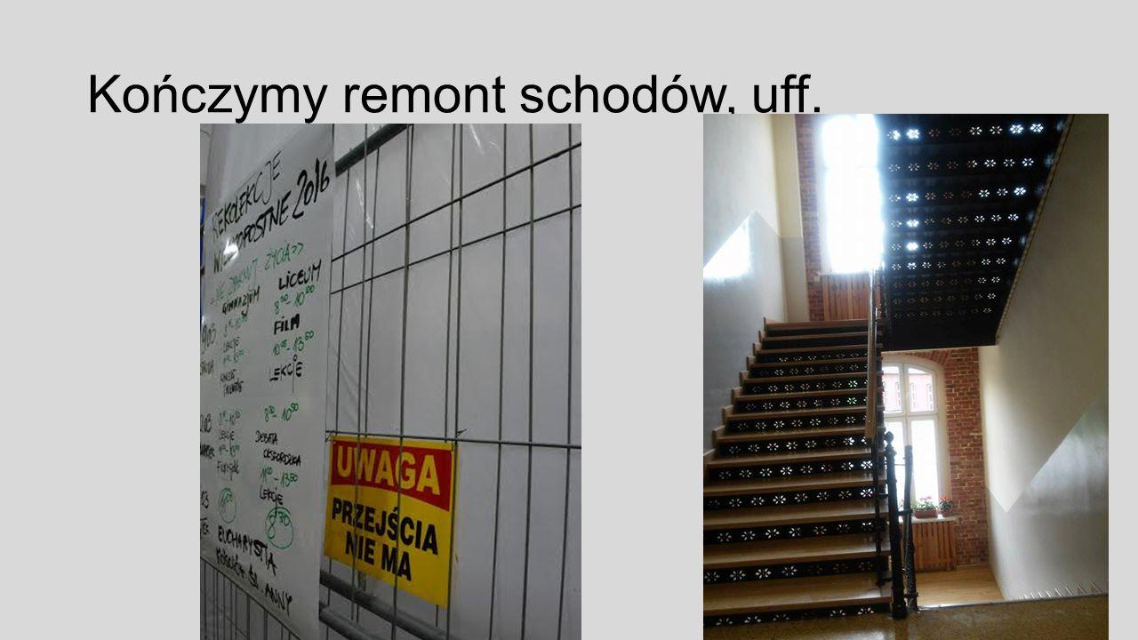 Kończymy remont schodów, uff.