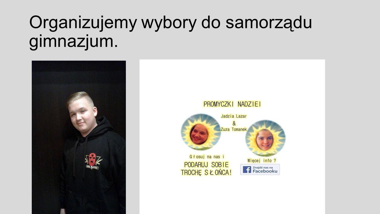 Organizujemy wybory do samorządu gimnazjum.