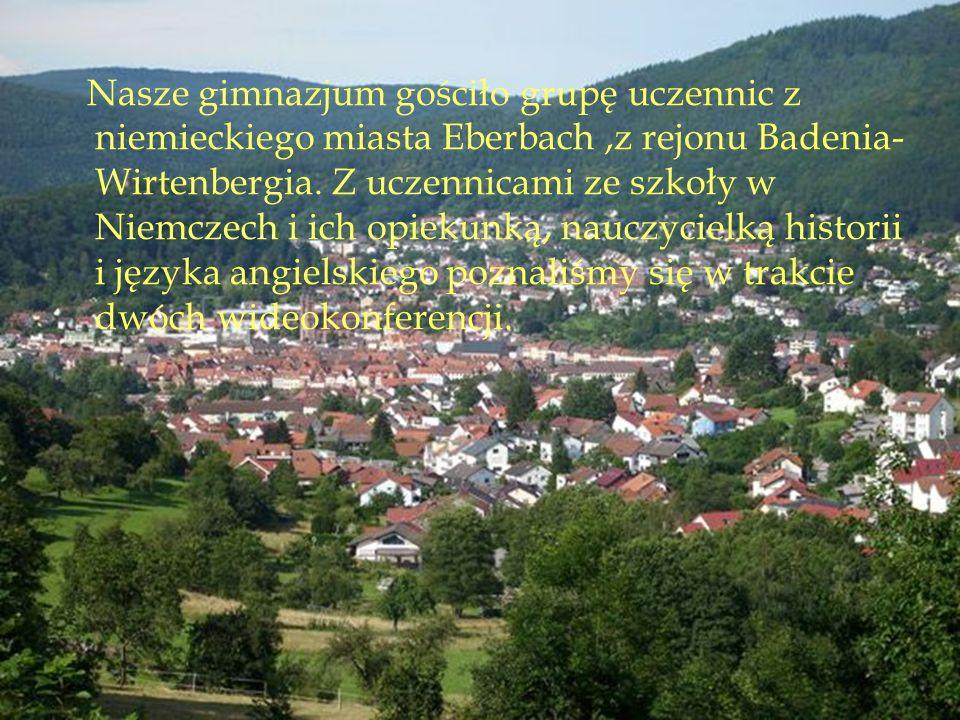 Nasze gimnazjum gościło grupę uczennic z niemieckiego miasta Eberbach,z rejonu Badenia- Wirtenbergia.