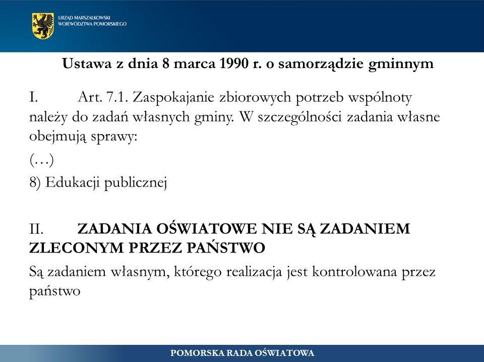 Ustawa z dnia 8 marca 1990 r. o samorządzie gminnym I.Art.