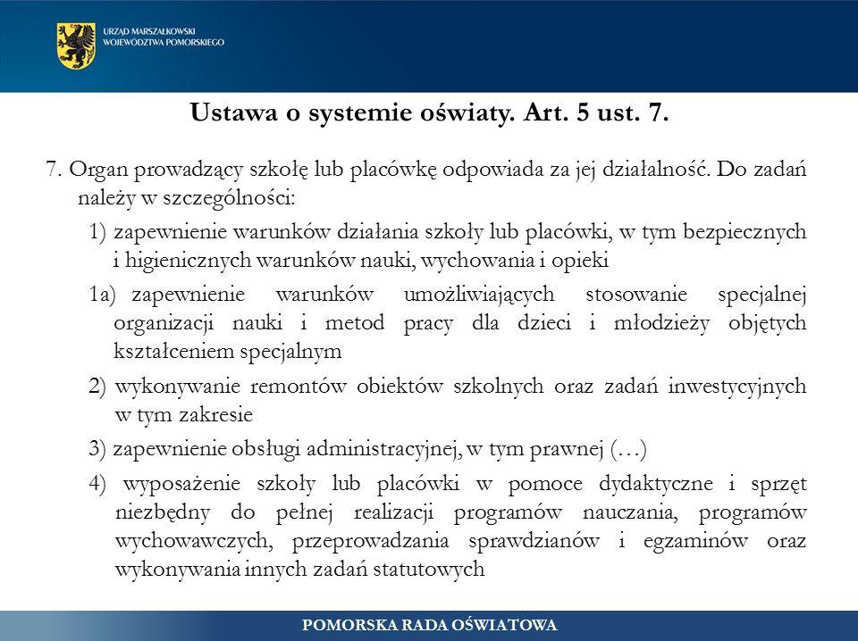 Ustawa o systemie oświaty. Art. 5 ust. 7. 7.