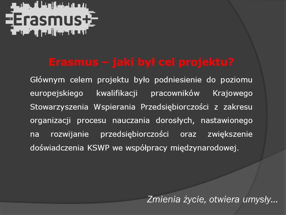 Erasmus – jaki był cel projektu.