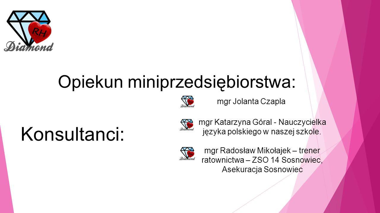 Opiekun miniprzedsiębiorstwa: mgr Jolanta Czapla Konsultanci: mgr Katarzyna Góral - Nauczycielka języka polskiego w naszej szkole.