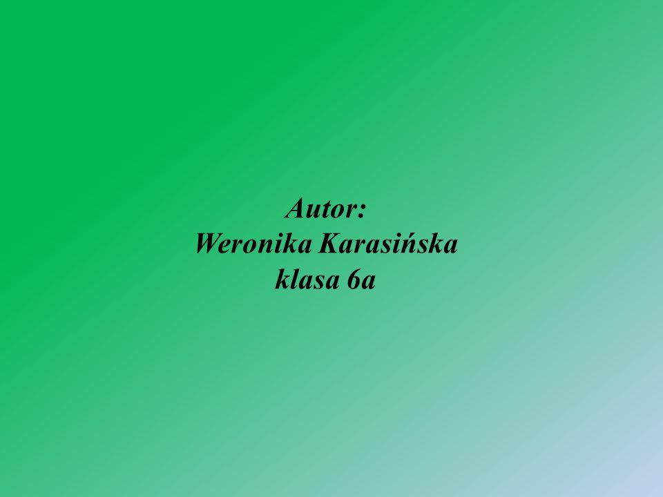 Autor: Weronika Karasińska klasa 6a