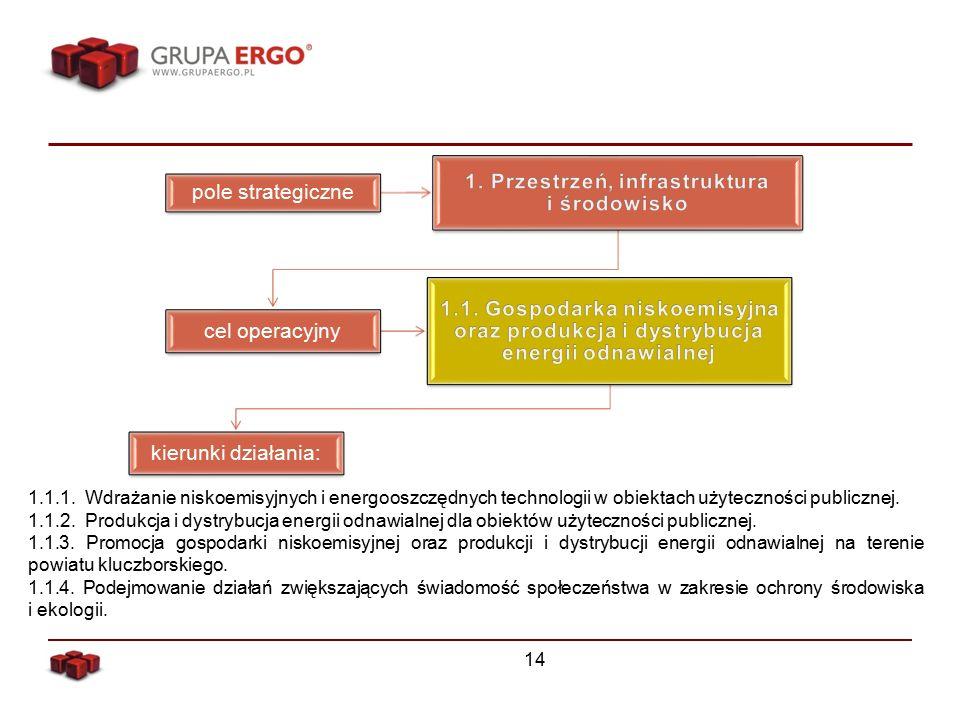 14 pole strategiczne cel operacyjny kierunki działania: 1.1.1.