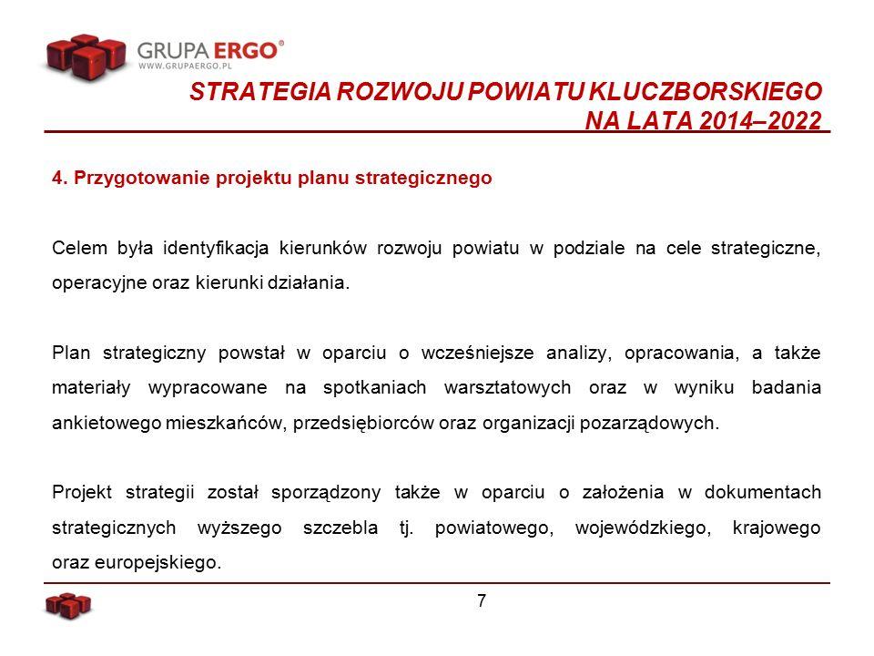 STRATEGIA ROZWOJU POWIATU KLUCZBORSKIEGO NA LATA 2014–2022 4.