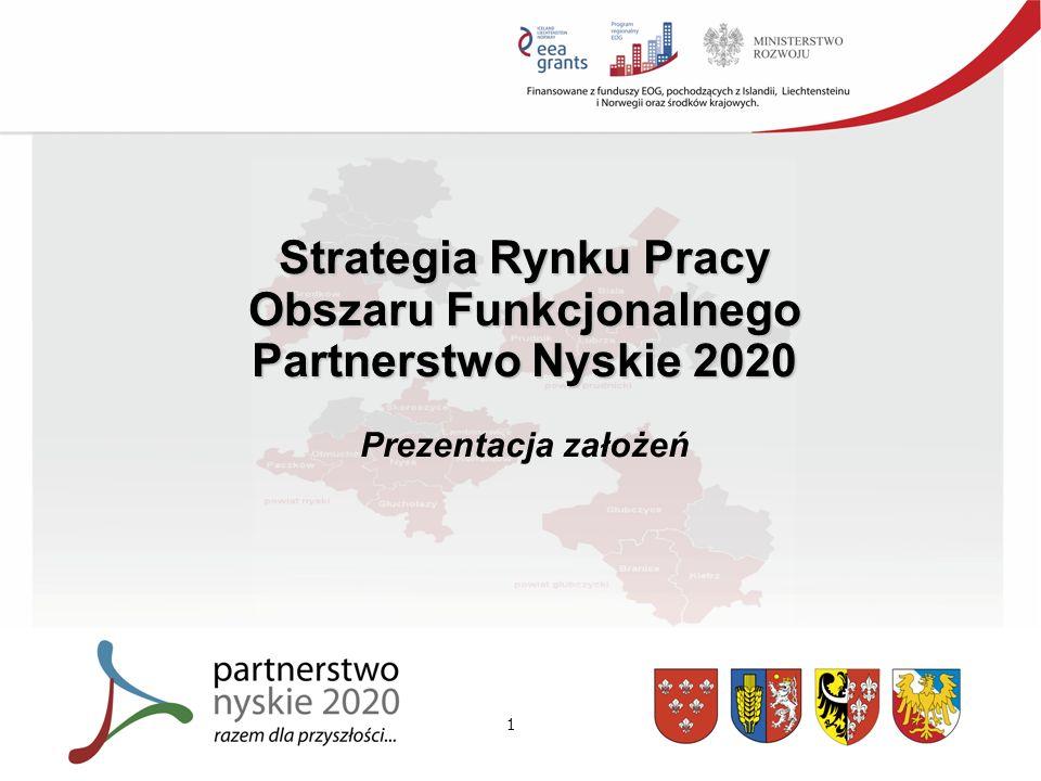 1 Strategia Rynku Pracy Obszaru Funkcjonalnego Partnerstwo Nyskie 2020 Prezentacja założeń