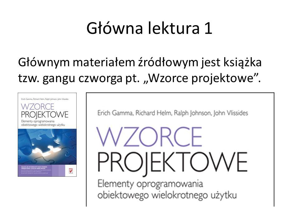 Pełnomocnik (Proxy) Przykład: Nazwy używane w kontekście tego wzorca: ŚrodkiPłatności - Subject CzekBankowy – Proxy Gotówka, PieniądzeWBanku – Real Subject https://sourcemaking.com/design_patterns/proxy