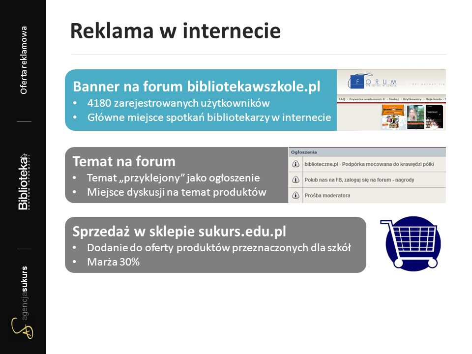 """Reklama w internecie Temat na forum Temat """"przyklejony"""" jako ogłoszenie Miejsce dyskusji na temat produktów Banner na forum bibliotekawszkole.pl 4180"""