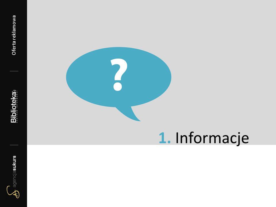 1. Informacje agencjasukurs Oferta reklamowa 2012/13 agencjasukurs Oferta reklamowa
