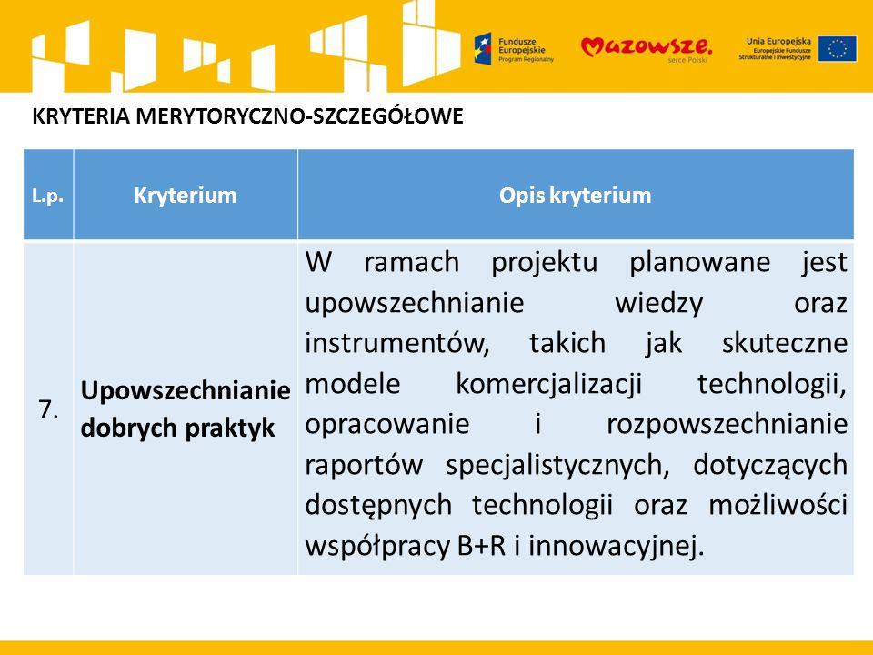L.p. KryteriumOpis kryterium 7.