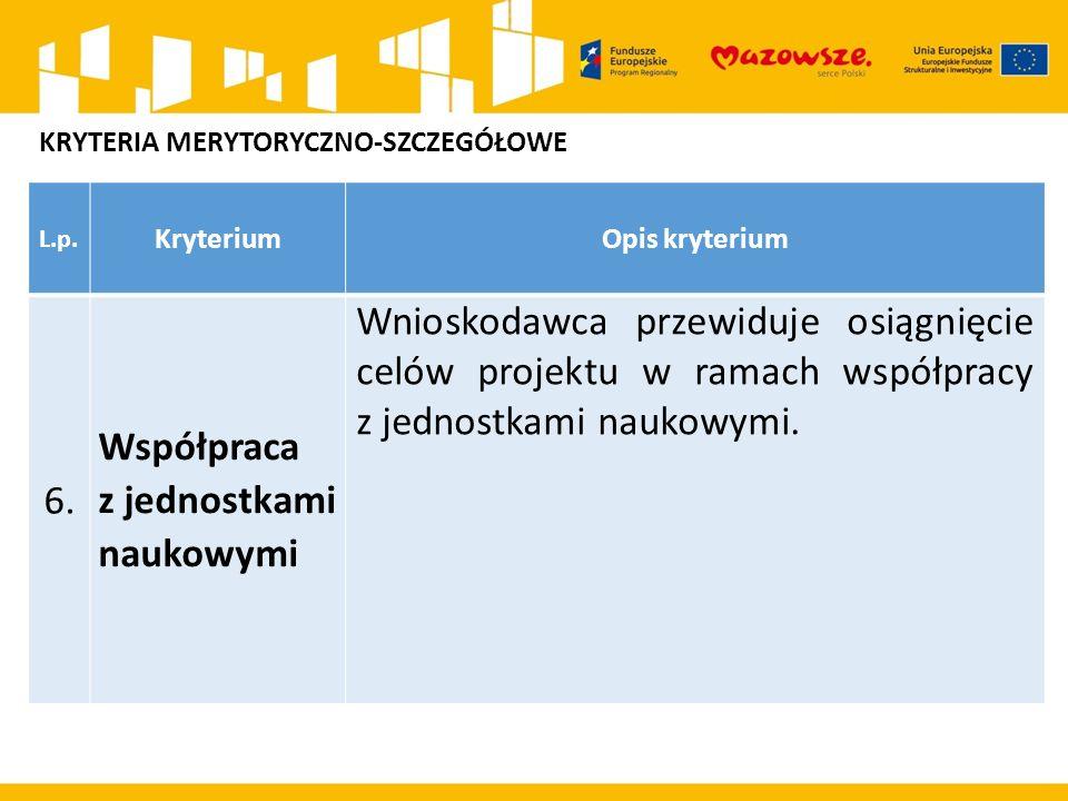 L.p. KryteriumOpis kryterium 6.