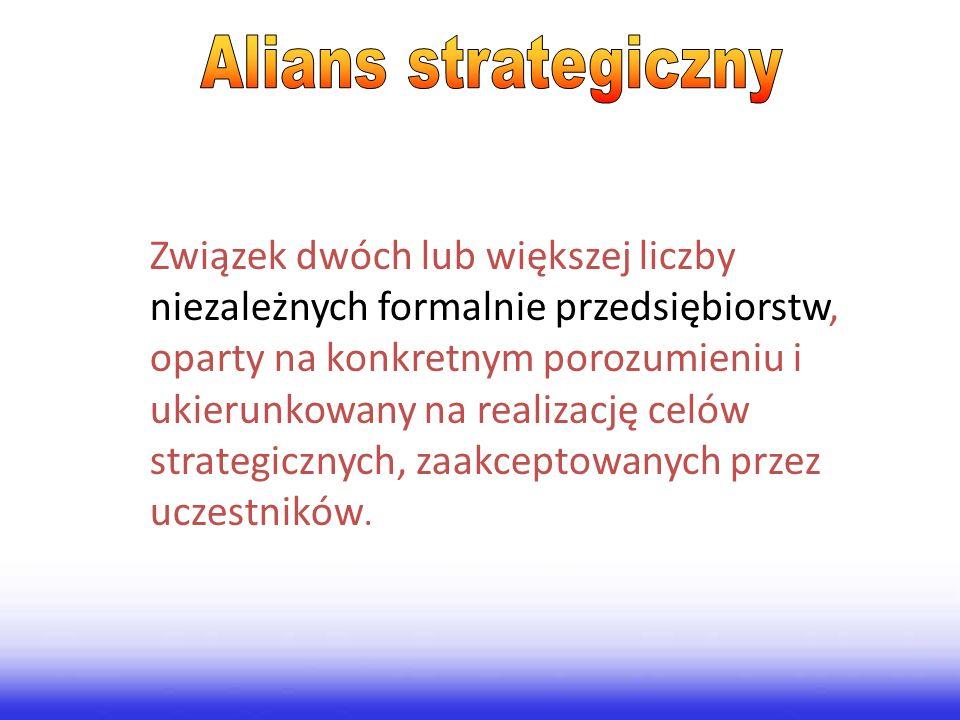 Związek dwóch lub większej liczby niezależnych formalnie przedsiębiorstw, oparty na konkretnym porozumieniu i ukierunkowany na realizację celów strate