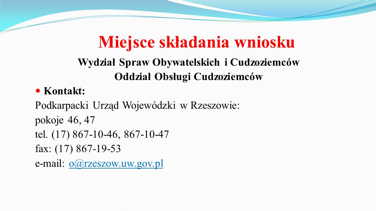 Informacje organizacyjne 1.