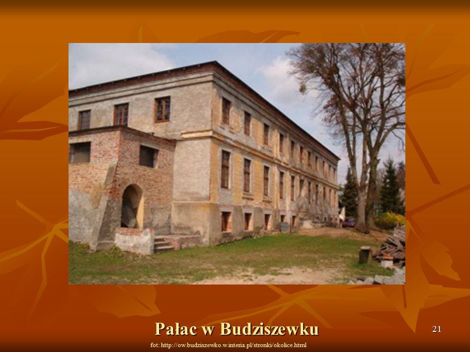 21 fot: http://ow.budziszewko.w.interia.pl/stronki/okolice.html Pałac w Budziszewku