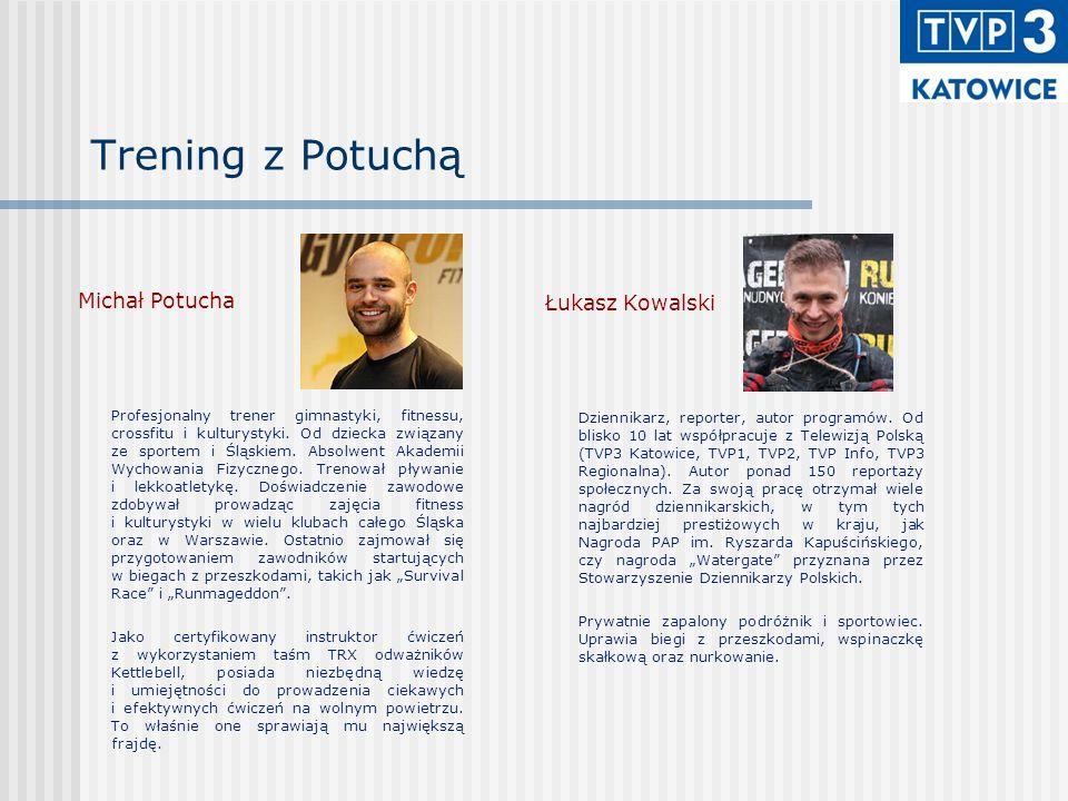 Trening z Potuchą Michał Potucha Profesjonalny trener gimnastyki, fitnessu, crossfitu i kulturystyki. Od dziecka związany ze sportem i Śląskiem. Absol