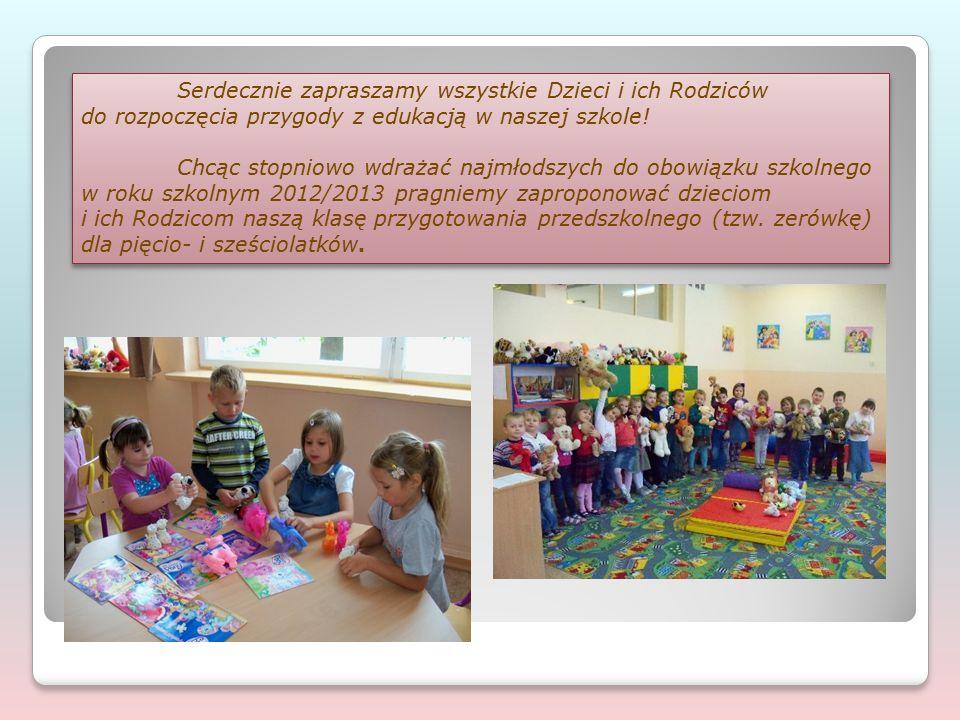 Serdecznie zapraszamy wszystkie Dzieci i ich Rodziców do rozpoczęcia przygody z edukacją w naszej szkole! Chcąc stopniowo wdrażać najmłodszych do obow