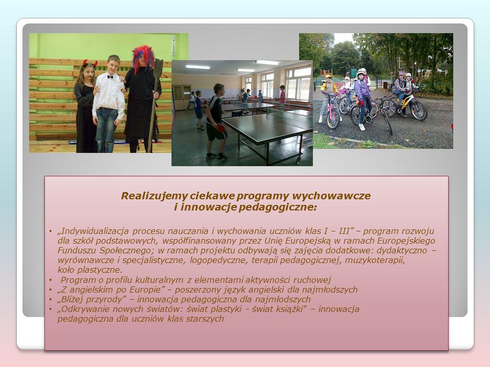 Współpracujemy ze szkołami państw europejskich w ramach programu Comenius.