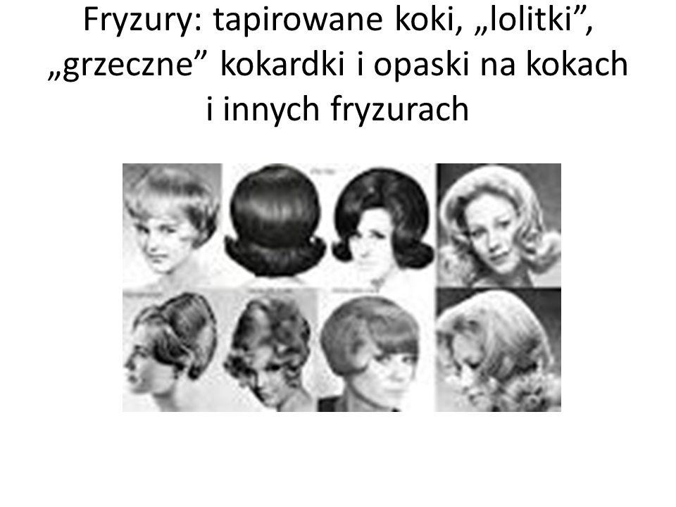 """Fryzury: tapirowane koki, """"lolitki"""", """"grzeczne"""" kokardki i opaski na kokach i innych fryzurach"""