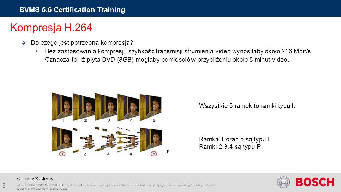 Bosch Video Management System 5.5 Training BVMS 5.5 Certification Training Internal | STNL/MK1 | 16.10.2002 | © Robert Bosch GmbH reserves all rights