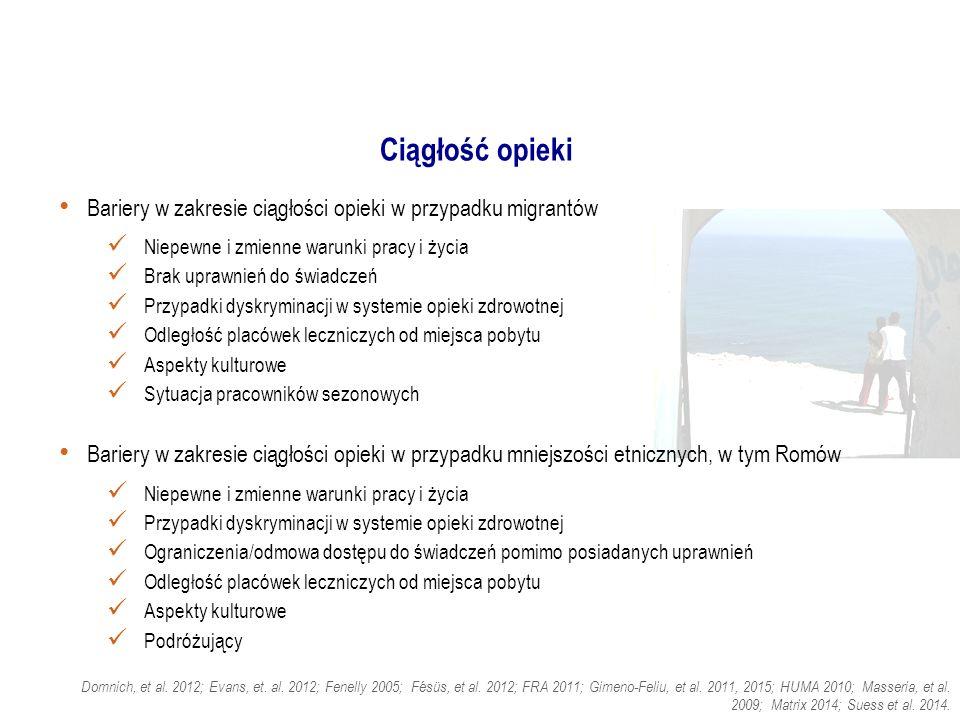 Tłumaczenia Trudności związane ze zrozumieniem wyrażeń idiomatycznych jako znacząca bariera w dostępie do opieki dla migrantów Strategie Tłumacze profesjonalni Tłumacze nieformalni Tłumacze usług publicznych/tłumacze środowiskowi Telefoniczne/elektroniczne usługi w zakresie tłumaczeń Wielojęzyczne broszury informacyjne Korzystanie z wiadomości tekstowych Piktogramy Angelelli 2004; Ani, et al.